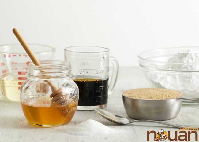 Si rô, mật ong, mật mía, đường trắng, đường nâu, đường bột