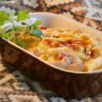 Giăm bông và khoai tây có vỏ