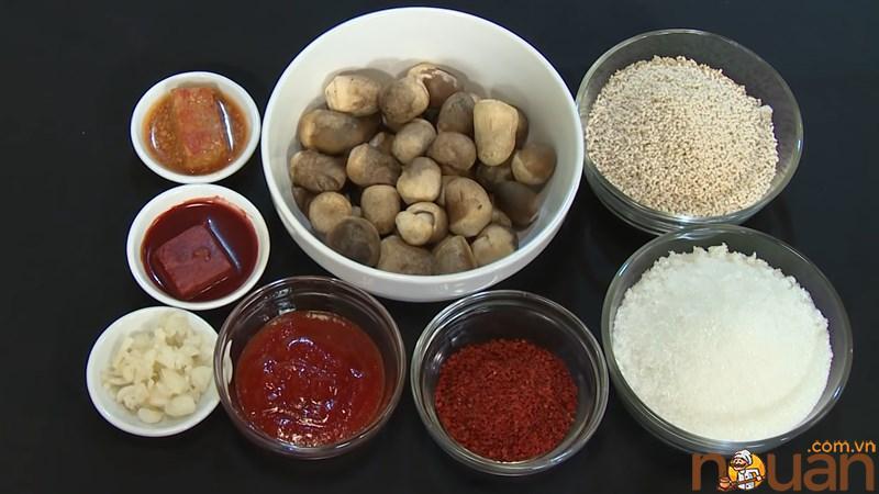 Nguyên liệu món ăn 2 cách làm nấm rơm kho đậu hũ và kho chao